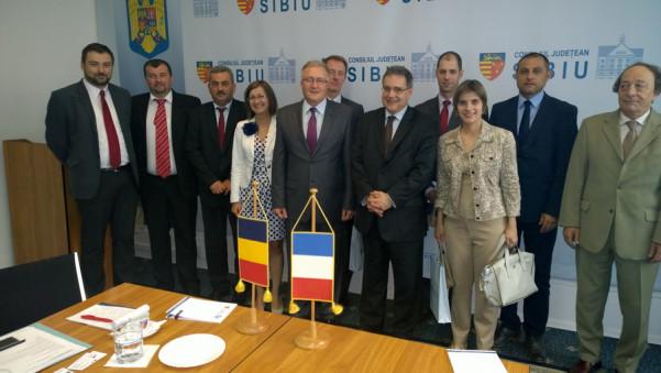 Intalnire Romano-Franceza la Consiliul Judetean Sibiu