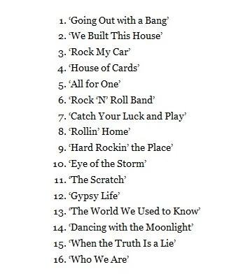 Tracklist Scorpions